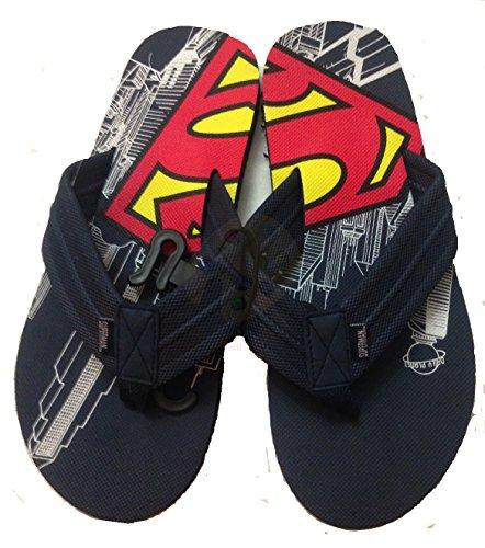 Mens Superman Comic Flip Flop Sandal (L 11 12)