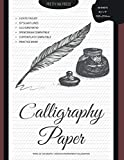 Calligraphy Paper - Practice Book: 60 Lightly Ruled Sheets in 3:2:3 Ratio with 55 Degrees Slant Lines for Hand Lettering, Spencerian, Copperplate, Cursive and Modern Calligraphy