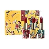 CATKIN X SUMMER PALACE Lipstick Set, Rouge Red Long Lasting Moisturizing Lip Stick Makeup Xmas Gift Box