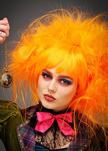 Struts Womens Orange Mad Hatter Style Perücke