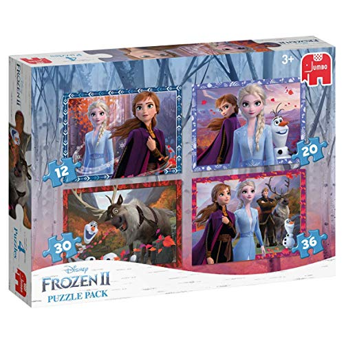 Jumbo 19747 Puzzel Frozen 2 Pack: 4 in 1, 36+ mnd