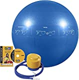 GoFit ProBall Stability Ball for Yoga, Fitness, Balance, Exercise Ball, Blue 55 cm