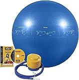 GoFit Professional Stability Ball - GF-55PRO, 55 cm, Azul