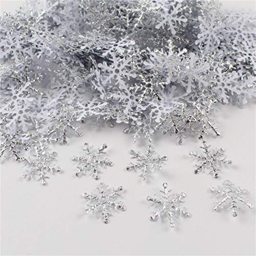 Party Paper Decorations 300 Pcs/Lot 2Cm Christmas Snowflake Wedding Throwing Confetti DIY Accessory Home Table Decoration Party Supplies Ornament