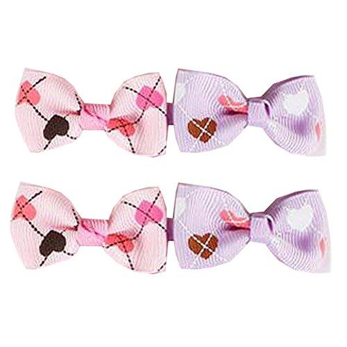 10 paires de beaux clips Ruban enfants Bow Cheveux Bébés filles cheveux Bows, F