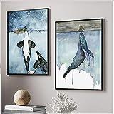 Leinwand Wandkunst Aquarell Wal Malerei Poster Und Drucke