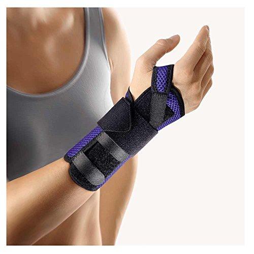 BORT ManuStabil® kurz Handgelenkbandage, medium, blau, rechts