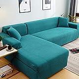 L.TSA Fundas de sofá para Muebles para Mascotas, niños, para Sala de Estar Fundas elásticas seccionales en Forma de L Protector de sillón-7_90-140cm, Funda de Tela elástica para sofá
