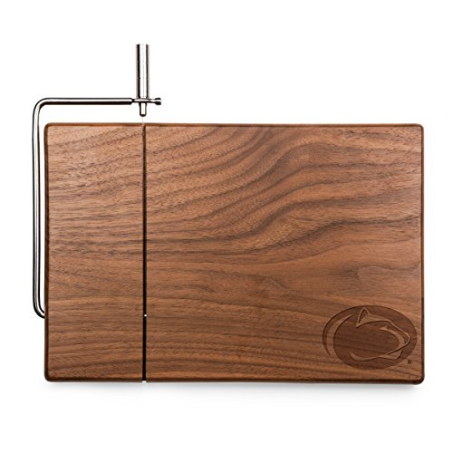 NCAA Penn State Nittany Lions Meridian Black Walnut Cutting Board with Cheese Slicer