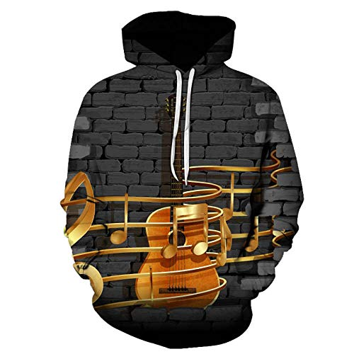 yyqx closed truck Gold Staff and Guitar Hooded Sweatshirt Unisex and Realistic 3D Fashion Pullover Hoodie Hooded Sweatshirt-Color_110