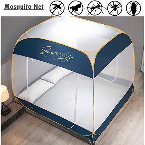 Vliegengaas voor camping, dubbel, draagbaar, reizen, huis, anti-tent, muggennet, opvouwbaar, pop-up, muggennet, 2 zijdelingse openingen, met ritssluiting, bidirectioneel, voor thuis en op reis