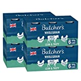 BUTCHER'S Lean and Tasty Low Fat Recipes Wet Dog Food Tin Cans Variety pack, 9.6kg (24 x 400g)