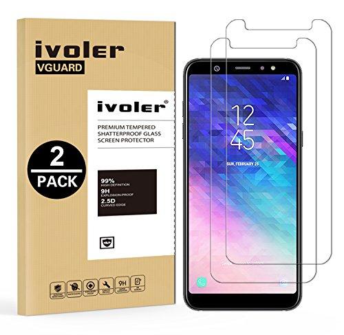 ivoler [Pack de 2] Verre Trempé Compatible avec Samsung Galaxy A6 Plus 2018 / Samsung Galaxy A6+ 2018 [Garantie à Vie], Film Protection en Verre trempé écran Protecteur - Transparent