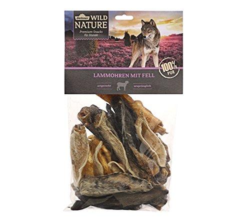 Dehner Wild Nature Hundesnack, Lammohren mit Fell, naturbelassen, 200 g