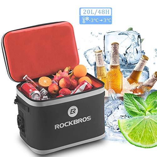 ROCKBROS Kühltasche 20L(30-Cans) Picknicktasche Lunchtasche Isolierte Kühlbox Wasserdicht Kühler Haltbar für Outdoor, Camping, Angeln, Picknick, Reise