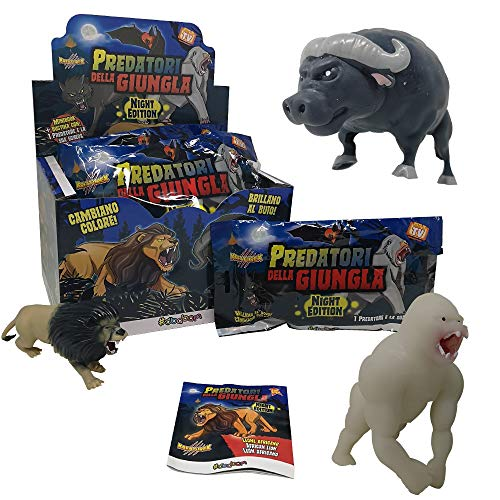 SBABAM - Depredadores de la Jungla Night Edition-Pack con 4 bolsitas Super Animales, 061-19