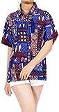 Tropical Impresa Real Azul de la Playa Likre Camisa Hawaiana para XL de Las Mujeres