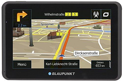 Blaupunkt TravelPilot 55 ACTIVE EU LMU 5 Zoll PKW Navigation, Aktiv Halter, Europa Karte, Lifetime Update, TMC