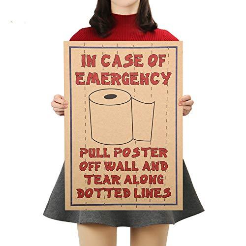 Movie Poster Kraft Papier Grappige Posters Adornment van Toiletpapier Muurstickers Posters voor Muren