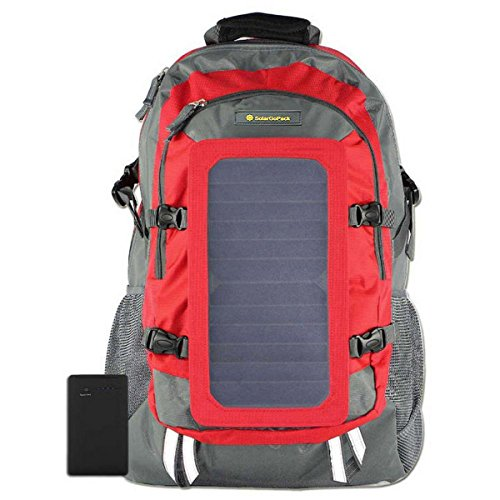 SolarGoPack Solar Powered Backpack / 7 Watt Solar Panel and 10K mAh Charging Battery Daypack/Phone...