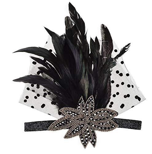 Casue Gatsby Feather Headpiece, 20er Jahre Headpiece inspiriert Leaf 1920er Jahre Flapper Stirnband Great Gatsby Zubehör