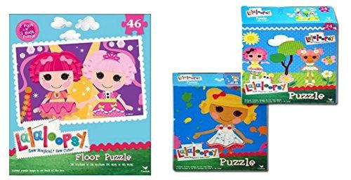 Lalaloopsy Puzzle Bundle : 1 - 46pc Floor Puzzle and 2 - 24 pc Puzzle