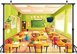 Back to School Theme Photography Backdrops First Day of School Photo Welcome to School Background for Kid Student Teacher Children Birthday Classroom Party Decor Cake Table Banner Studio Props 5x3ft