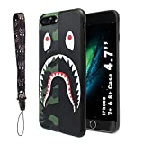 """Shark Face Case for iPhone 7 Plus & iPhone 8 Plus 