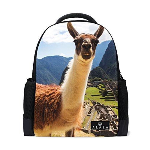 My Daily Lama Machu Picchu Mochila de 14 pulgadas para ordenador portátil mochila para viajes universitarios