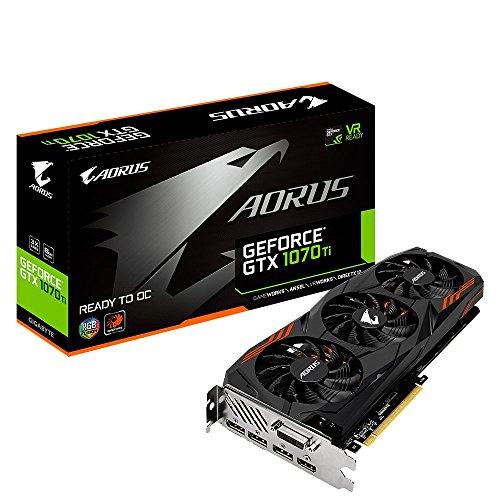 Gigabyte GeForce GTX 1070 Ti Aorus 8G, 8192 MB GDDR5