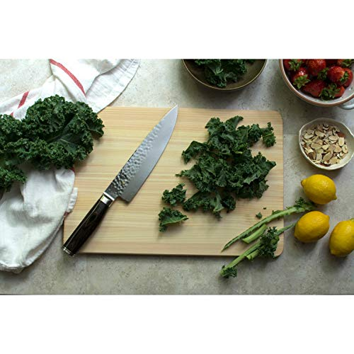 """Shun Cutlery Premier 8"""" Chef's Knife; Lightweight, Agile, Extremely Comfortable Grip, Perfect for Slicing, Dicing and Chopping a Full Range of Foods, Beautiful and Versatile, Handcrafted in Japan"""