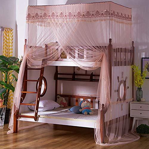 Mosquitera para dormitorio de estudiante con mosquitero, instalación gratuita, mosquitero, doble puerta, red de cifrado completa, tienda de campaña (tamaño : 80 x 190 x 260 cm)