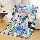 ZKPZYQ Mantas para Cama Manta de Anime Flip Flappers Mantas de rol Mantas Suaves y cálidas Manta de Franela Manta de sofá Mantas Mantas de Camping 130x150cm