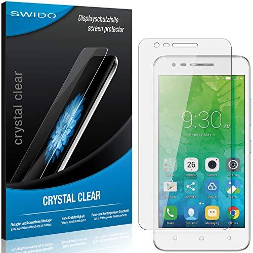SWIDO Schutzfolie für Lenovo Vibe C2 Power [2 Stück] Kristall-Klar, Hoher Härtegrad, Schutz vor Öl, Staub und Kratzer/Glasfolie, Displayschutz, Displayschutzfolie, Panzerglas-Folie