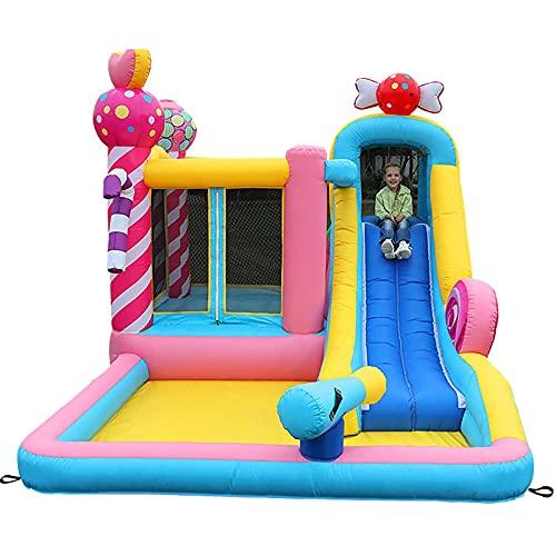 FYHpet Castillos hinchables, trampolín Inflable del Castillo de Aviones, para jardín Interior y al Aire Libre Patio de Juegos para niños, Piscina para bebés, Parque acuático