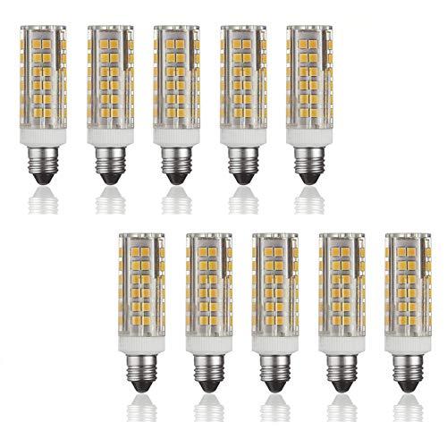 E11 Candelabro Base Lampadina LED, Dimmerabile Risparmio Energetico Lampadine LED E11 Bocca Vite 100W Ricambio Alogeno 10 Pack, 102 SMD 2835 Lampadina Mais (110-120V)
