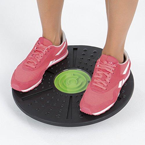 VITALmaxx Balance Board | Wackelbrett, Therapie-Kreisel-Training | Trainiert Gleichgewicht & Koordination | [schwarz, grün]