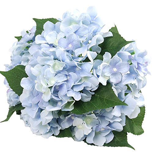 "Felice Arts Artificial Flowers 18"" Silk 7 Big Head Hydrangea Bouquet for Wedding, Room, Home, Hotel, Party Decoration and Holiday Gift"