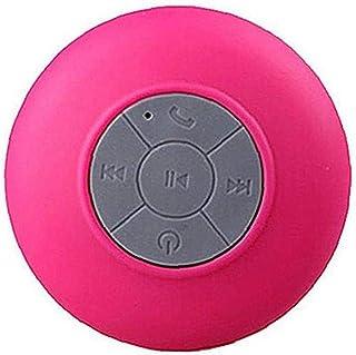 Portátiles a prueba de agua de ducha Estéreo Bluetooth Wireless Mini Altavoces con ventosa Rose Red