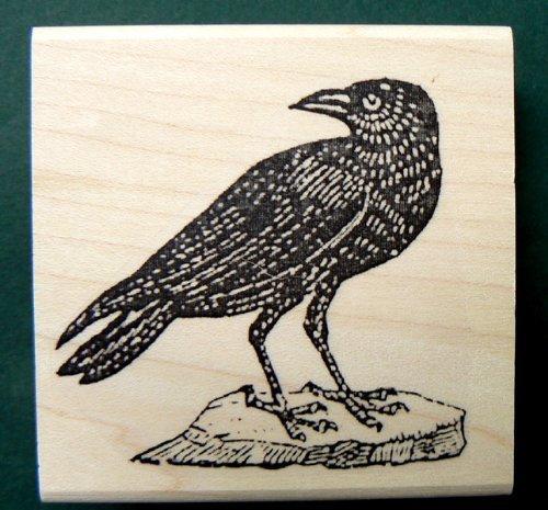 Crow Rubber Stamp WM P9