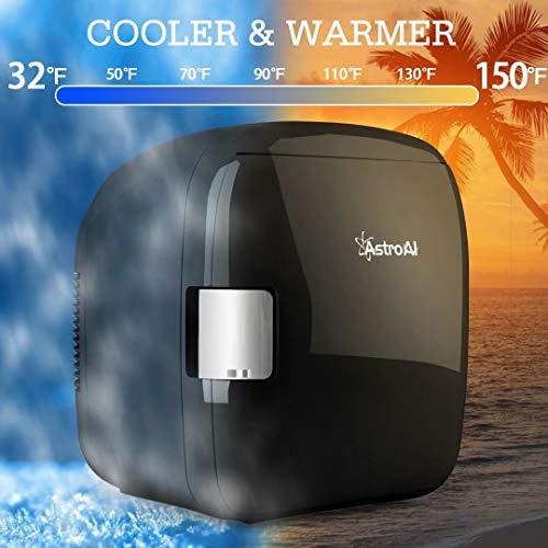 51qTeKr+M3L - AstroAI Mini Refrigerador Portátil para el Skincare 9L, Mini Neveras 220V/12V para Enfriar y Calentar (negro)