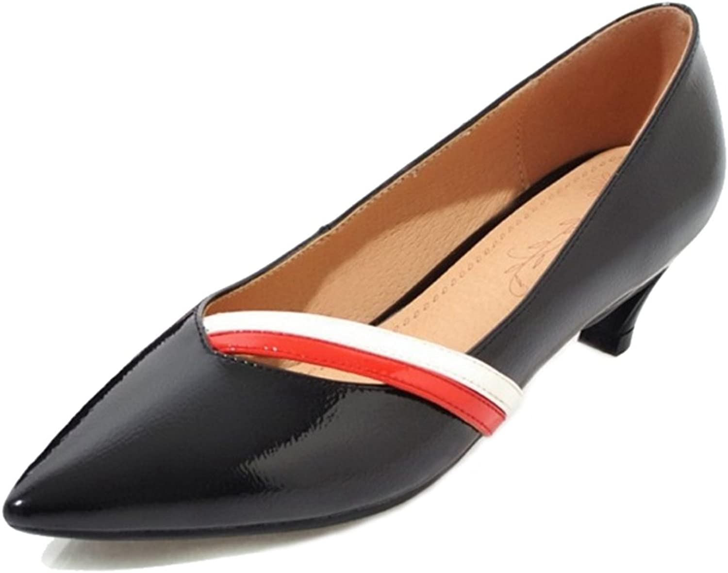 CUTEHEELS Women Pumps with Pointed Toe and Kitten Heel Casual shoes for All Occasions