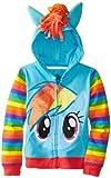 My Little Pony Big Girls Zip-up Hoodie, Rainbow Dash, Medium (8/10)