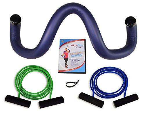 AktiFlex® Schulterhilfe® Optima Comfort-Set Schultertrainer gegen Schulterschmerzen und schlechter Haltung (Blau, 6. Akut -M-)
