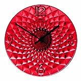Guzzini Orologio da Parete, Rosso, 10 x 36,5 cm