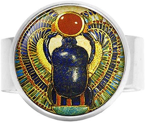 Ägyptischer Skarabäus Ring Antiker ägyptischer Schmuck Vintage Charm Glas Foto Schmuck