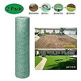 Lunaer 32FT Rotolo di stuoia per Semi d'erba, stuoie biodegradabili per Semi di Erba Picnic da Giardino per rafforzare la velocità di Semina