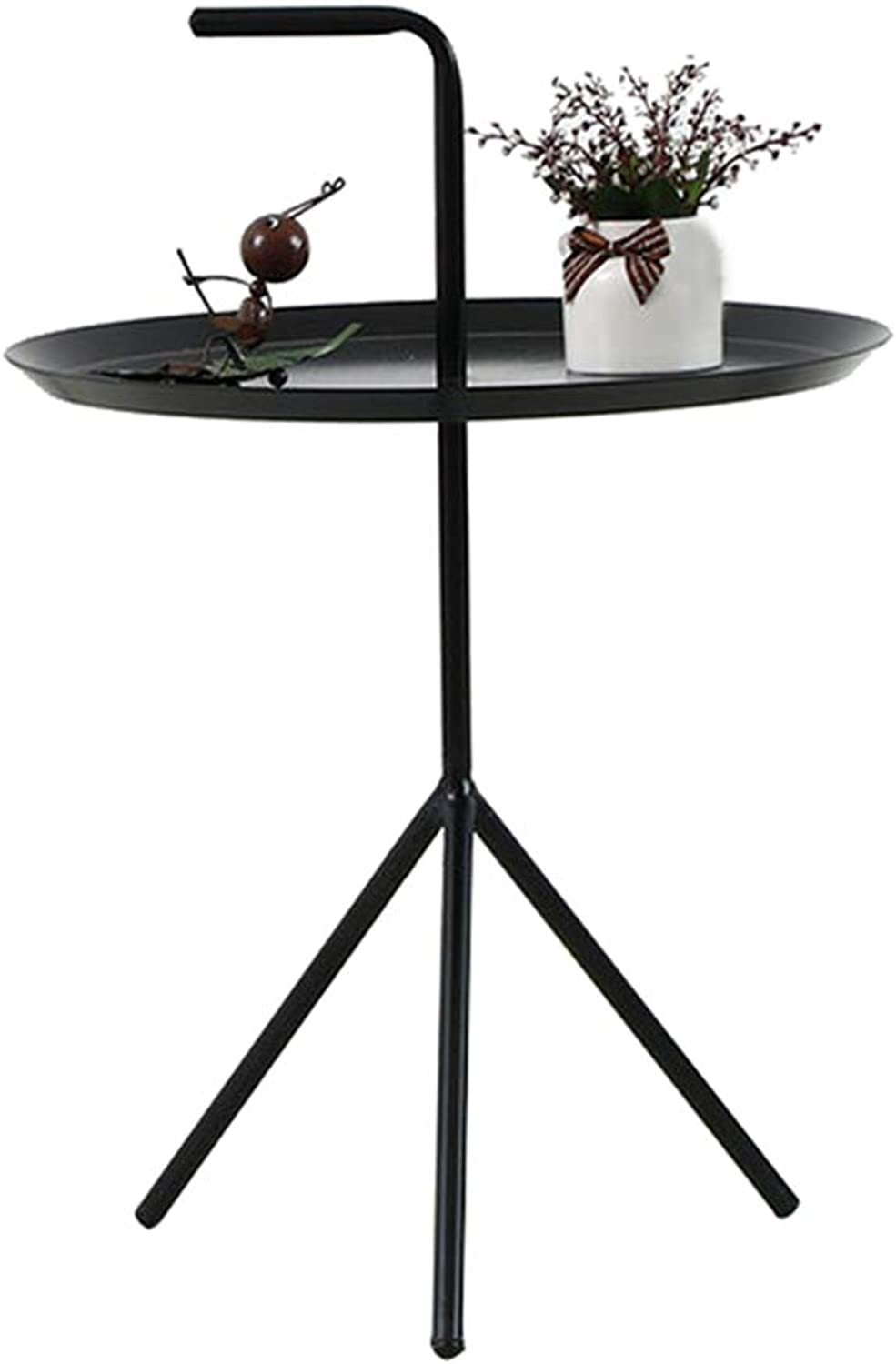 Creative Casual Balcony Table, Modern Minimalist Handle Wrought Iron Coffee Table - Bedroom Bedside Table - Nordic Living Room Sofa Side Table