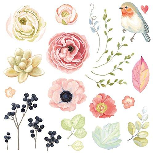 Zarupeng Patches Zum Aufbügeln, 25 Stück Patches DIY Blume Aufnäher Applikationen Zum Aufbügeln für Kleidung T-Shirt Jeans Pullover Tasche (24 x 22.5 cm, Mehrfarbig)