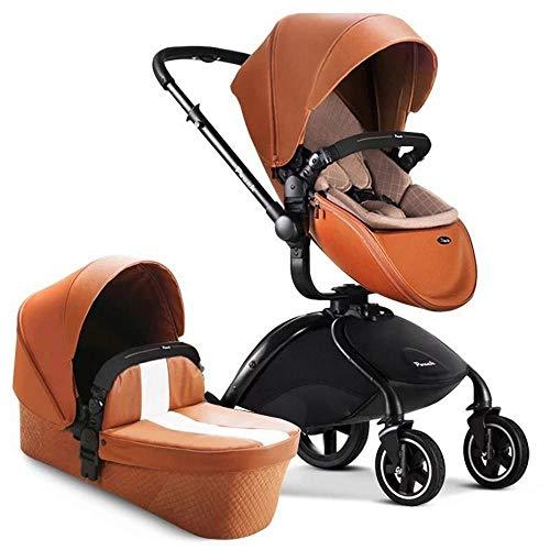 Olydmsky Carro bebe,Alta vista descarga mesa infantil plegable puede sentarse en una...